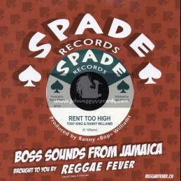 "Spade Records-7""-Rent Too High / Tony King & Ranny Williams + Summer Place / Ranny Williams And The Hippy Boys"