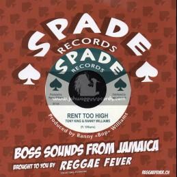 "Spade Records-7""-Rent Too High / Tony King & Ranny Williams + Summer Place / Ranny Williams And The Hippy Boys"