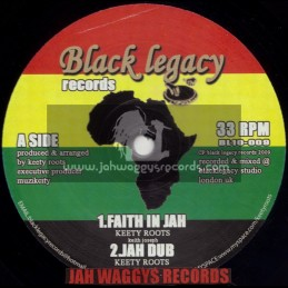 """BLACK LEGACY RECORDS-10""""-FAITH IN JAH + LIVE AND LET LIVE / KEETY ROOTS"""