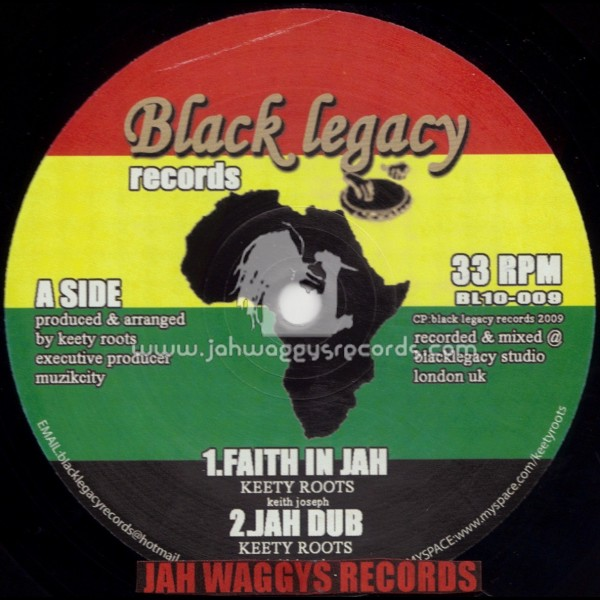 "BLACK LEGACY RECORDS-10""-FAITH IN JAH + LIVE AND LET LIVE /"