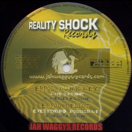 "REALITY SHOCK RECORDS-10""-LIVE UPRIGHT/ERROL DUNKLEY+EVERYTHING POSSIBLE/ERROL BELLOT+CHALICE HAFFI BLAZE/SOLO BANTON"
