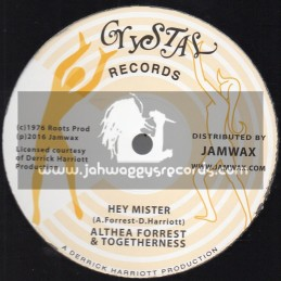 """Crystal Records-7""""-Hey Mister / Althea Forrest & Togetherness"""