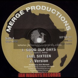 "MERGE PRODUCTIONS-10""-GOOD OLD DAYS / EARL SIXTEEN & DANNY RED + ROOTS MAN DANCE / EARL SIXTEEN"