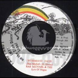 """Numbered Days / Ras Michael And The Sons Of Negus-7""""-I And I Imes On The Zion Disco Label"""