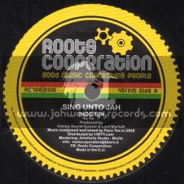 "Roots Cooperation-7""-Sing Unto Jah / Paco Ten"