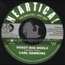 """Heartical Records-7""""-Doggy Dog World / Carl Dawkins + My Love Is Your Love / Lady M And Antonio"""
