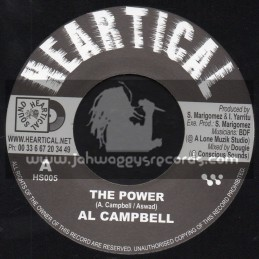 """Heartical Records-7""""-The Power / Al Campbell + Melodica Fire / Basque Dub Foundation"""