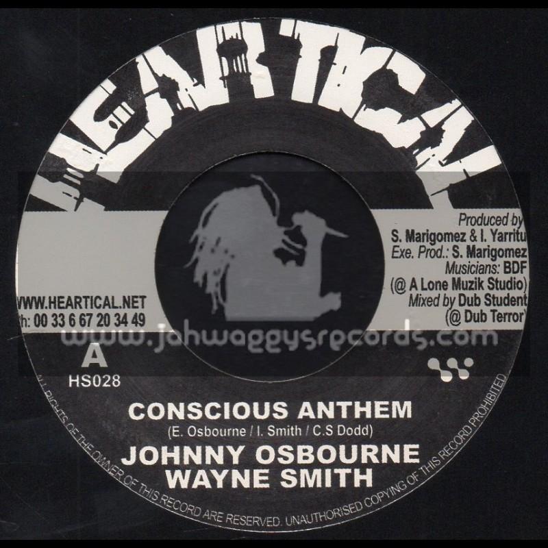 "Heartical Records-7""-Conscious Anthem / Johnny Osbourne & Wayne Smith + Melodica Rock / Basque Dub Foundation"