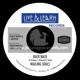 """Live And Learn Records-7""""-Back Back / Wailing Souls"""