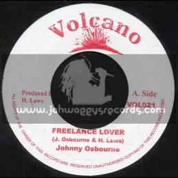"""Volcano-7""""-Freelance Lover / Johnny Osbourne"""