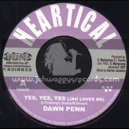 "Heartical Records-7""-Yes Yes Yes / Dawn Penn + Justice / Tiwany"