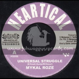 "Heartical Records-7""-Universal Struggle / Mykal Roze + Decisions / Rootsamala"