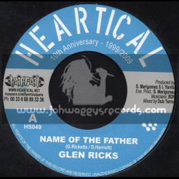 "Heartical Records-7""-Name Of The Father / Glen Ricks + Perpetrators / Joseph Cotton"