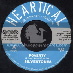 """Heartical Records-7""""-Poverty / Silvertones + Freedom Fighters / Papa Kojak"""