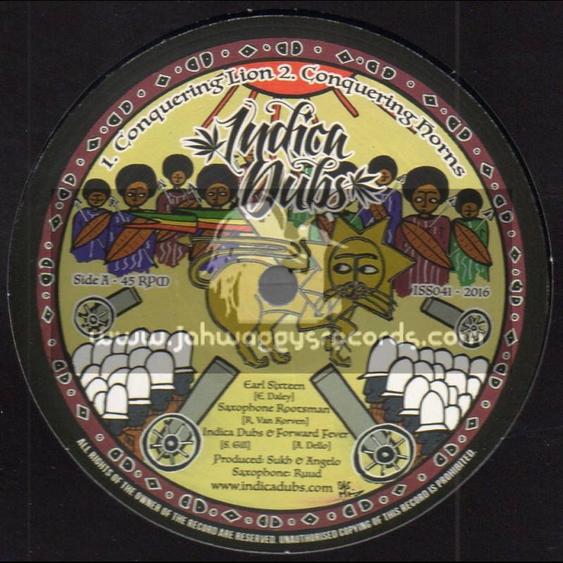 """Indica Dubs-10""""-Conquering Lion / Earl Sixteen + Jah Guide & Protect / Danman - Indica Dubs Meets Forward Fever"""