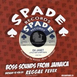 """Spade Records-7""""-Oh Janet / Little Tony And Hippy Boys + Lorna Run / Hippy Boys"""