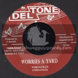 """Deltone-7""""-Worries A Yard / Versatiles + Yield Not To Temptation / Milton Booth"""