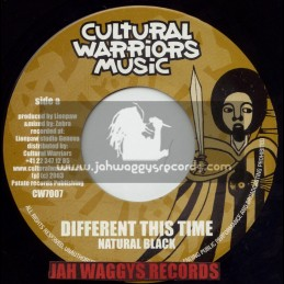 """CULTURAL WARRIORS MUSIC-7""""-DIFFERENT THIS TIME / NATURAL BLACK"""