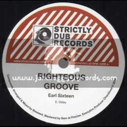 """Strictly Dub Records-7""""-Righteous Grove / Earl Sixteen"""