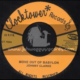 """Clock Tower Records-7""""-Move Outer Babylon / Johnny Clarke"""