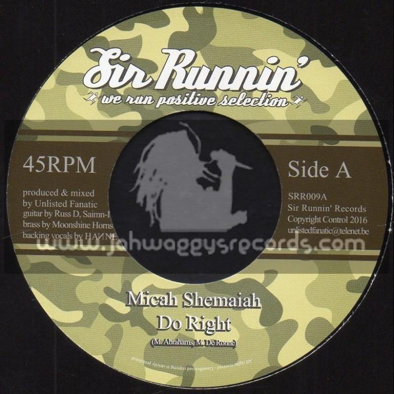 "Sir Runnin Records-7""-Do Right / Micah Shemaiah"