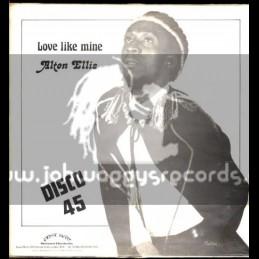 "Grove Music-12""-Its Hard To Be A Lover / Alton Ellis + Love Like Mine / Alton Ellis"
