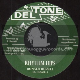 """Deltone-7""""-Rhythm Hips / Ronald Russell + The Horse / Theo Beckford Group"""