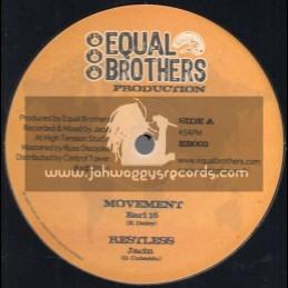 "Equal Brothers-12""-Movement / Jacin Feat. Earl Sixteen + Redemption Dub / Jacin"