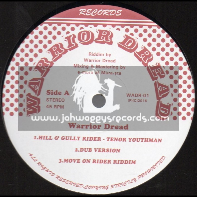 """Warrior Dread Records-12""""-Hill And Gully Rider / Tenor Youthman"""