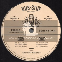 "Dub Stuy Records-12""-Guns N Fiyah / Bukkha Feat. Junior Dread"