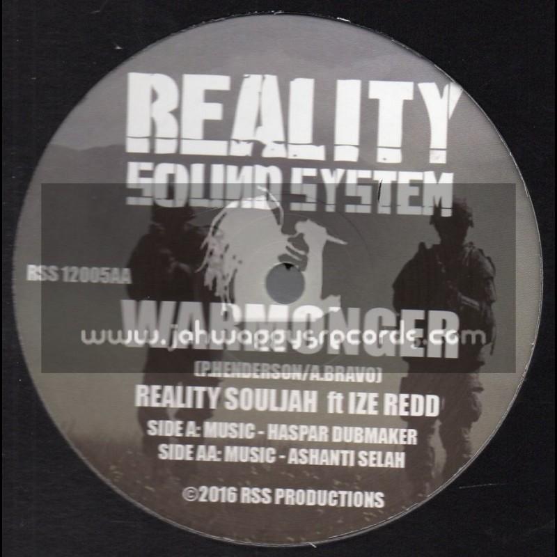 """Reality Sound System-12""""-Warmonger / Reality Souljah, Ize Redd, Haspar Dubmaker & Ashanti Selah"""