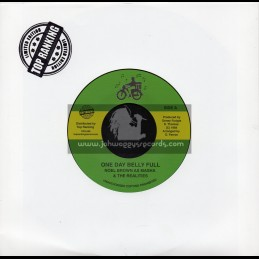 "Sonny Fudgie-7""-One Day Belly Full / Noel Brown As Masha And The Realites"