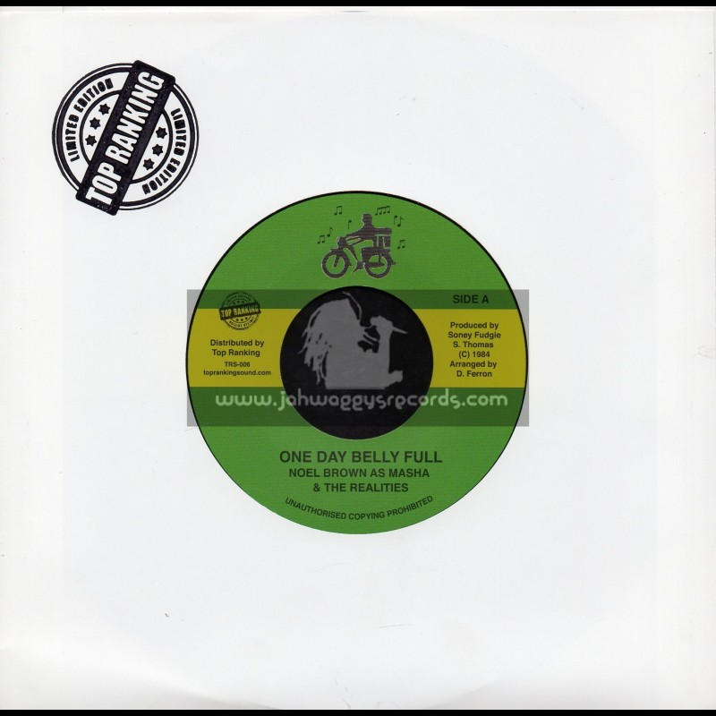 """Sonny Fudgie-7""""-One Day Belly Full / Noel Brown As Masha And The Realites"""