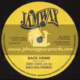 """Jamwax-7""""-Get Ahead / Andre Tanker + Back Home / Andre Tanker With The Masa Musa Drummers"""