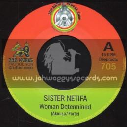 "Deep Roots Reggae Shop-7""-Woman Determind / Sister / Netifa + Masimba / Jah Rej"
