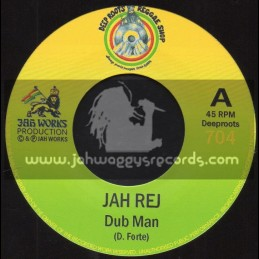 "Deep Roots Reggae Shop-7""-Dub Man / Jah Rej - Jah Works Production"