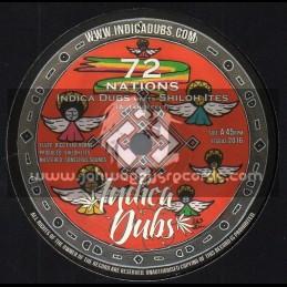 """Indica Dubs-7""""-72 Nations / Indica Dub Meets Shiloh Ites"""