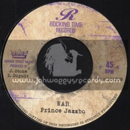 """Rocking Time Records-7""""-War / Prince Jazzbo + Melodica Strikes Back / Rocking Time All Stars"""