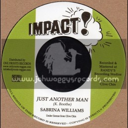 """Impact-7""""-Just Another Man / Sabrina Williams + Just Another Dub / Impact All Stars"""