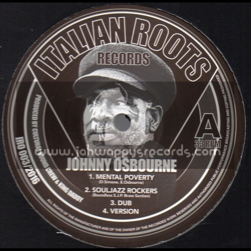 """Italian Roots Records-12""""-Mental Poverty / Johnny Osbourne - Cultural Sound Crew And King Daddy"""