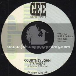"Gee Recordings-7""-Strangers / Courtney John"