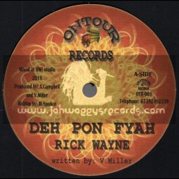 "On Tour Records-7""-Deh Pon Fire / Rick Wayne + Dont Cry Child / Andy Campbell"