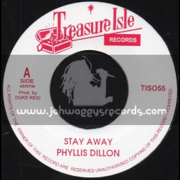 """Treasure Isle-7""""-Stay Away / Phyllis Dillon + Starry Night / Tommy McCook And The Supersonics"""