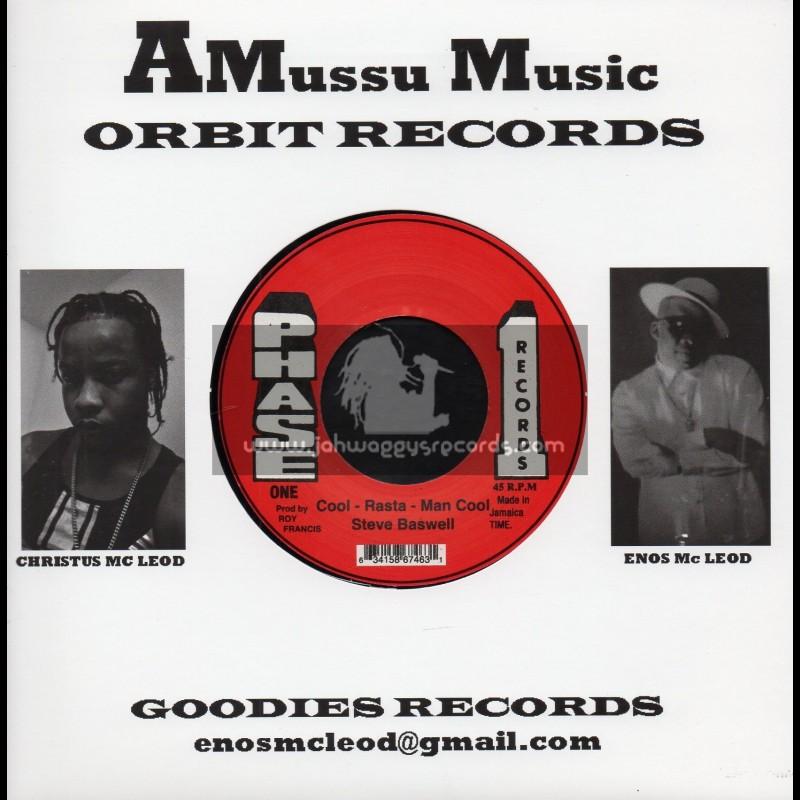 "Phase 1-Amussu Music-7""-Cool Rastaman Cool / Steve Baswell"