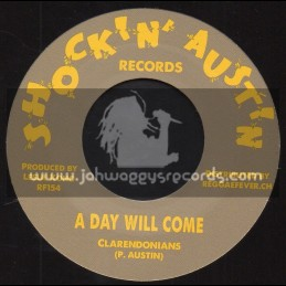 """Shockin Austin Records-7""""-A Day Will Come / Clarendonians + VAT 7 / Don Drummond"""