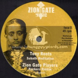 "Zion Gate Music-12""-Sabath Meditation / Tony Roots + Strength Of My Soul / Christine Miller"