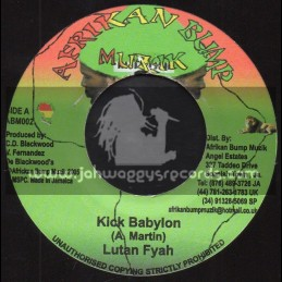 """Afrikan Bump Muzik-7""""-Kick Babylon / Lutan Fyah + Praises To Jahovia / Selah"""