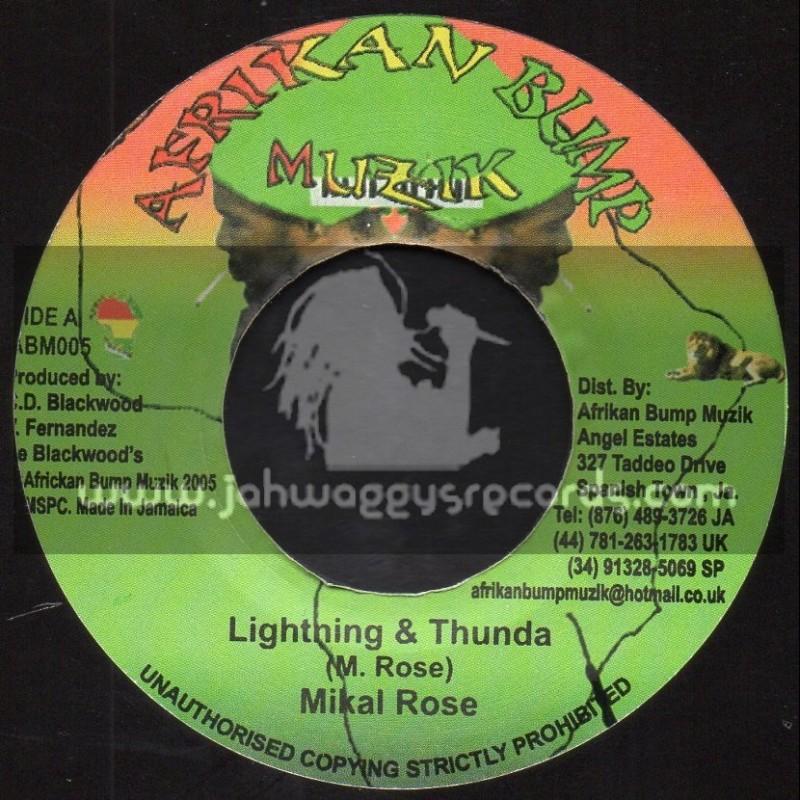 "Afrikan Bump Muzik-7""-Lightning And Thunda / Mykal Rose + Living In Danger / Razamos"