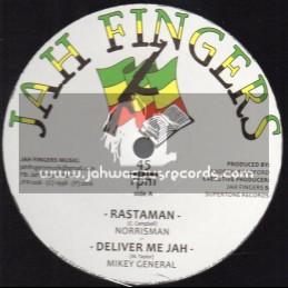 "Jah Fingers Music-12""-Rastaman / Norrisman + Deliver Me Jah / Mikey General + Dem A Hypocrite / Buccaneer"