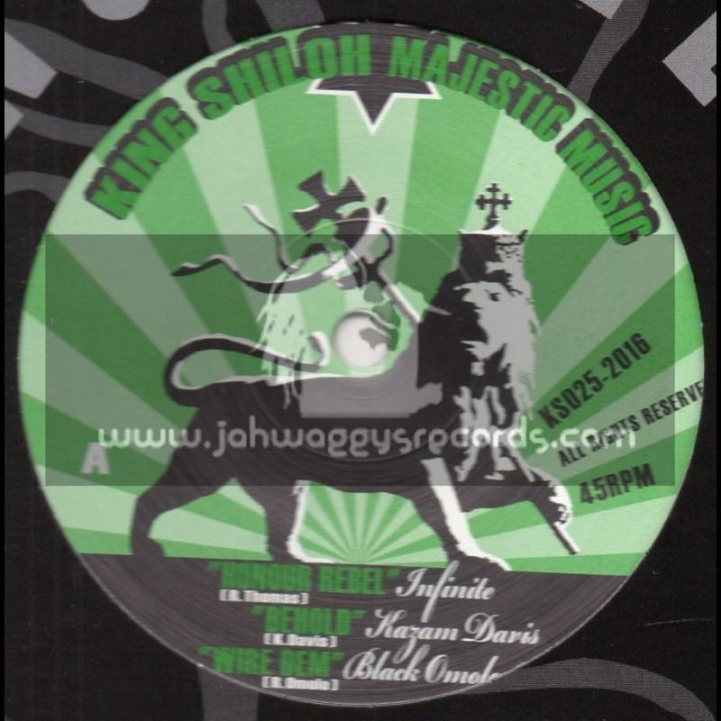 "King Shiloh Majestic Music-12""-Honour Rebel / Infinate + Behold / Kazam Davis + Wire Dem / Black Omolo - Dub Creator"